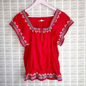 American Eagle Boho Embroidered Top